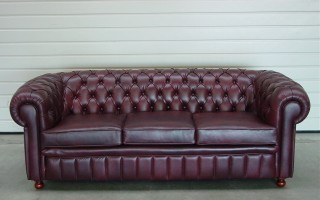 Chesterfield driezit - Herstofferen - Realisaties